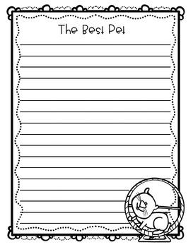 Opinion Writing Craftivity: The Best Pet!