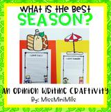 Opinion Writing Craftivity: The Best Season