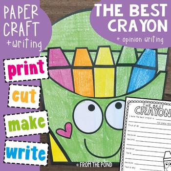 Opinion Writing Crayon Pack Craftivity