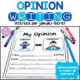Opinion Writing {December and January Themes}