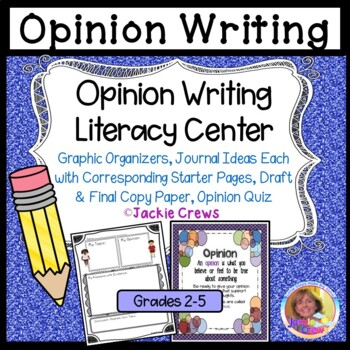 Opinion Writing Literacy Center: Grab & Go