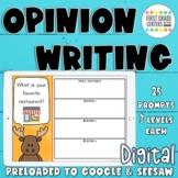 Opinion Writing Digital Google Slides Seesaw