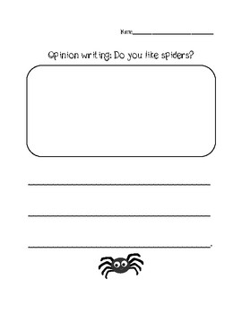 Opinion Writing: Do you like spiders?