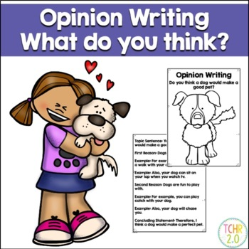 Opinion Writing Prompt Dog For a Pet