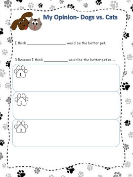 Opinion Writing - Dogs vs. Cat