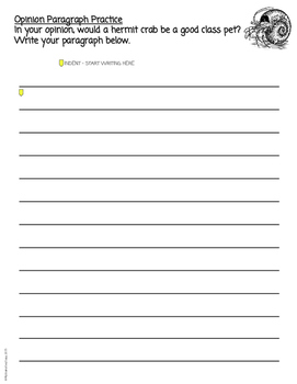 Opinion Writing FREEBIE 1