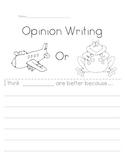 Opinion Writing- FREEBIE