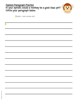 Opinion Writing FREEBIE 2