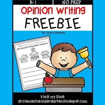FREE DOWNLOAD : Opinion Writing FREEBIE