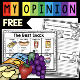 Opinion Writing FREEBIE Kindergarten and First Grade Writer's Workshop