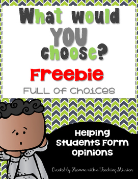 Opinion Writing FREEBIE SAMPLE