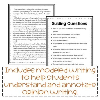 Fall Activities Opinion Writing