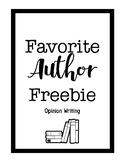 Opinion Writing - Favorite Author