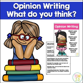 Opinion Writing Prompt Favorite Author Book Genre Series