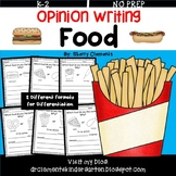 Food Opinion Writing Distance Learning
