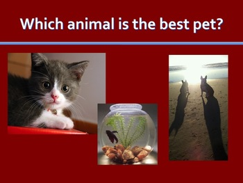Opinion Writing - Favorite Pet - Powerpoint