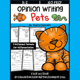 Pets Opinion Writing Distance Learning