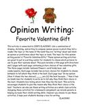 Opinion Writing: Favorite Valentine Gift