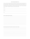 Opinion Writing Feedback Form