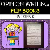 Opinion Writing - Flip Books - 15 topics
