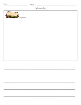 Opinion Writing: Food