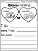 Opinion Writing For Beginning Writers SET 1