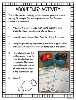 Opinion Writing Freebie - The Best Candy