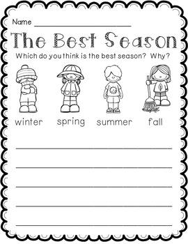Opinion Writing Freebie: The Best Season