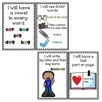 Opinion Writing Goal Setting POSTERS For Kindergarten! EDITABLE NAME PLATES