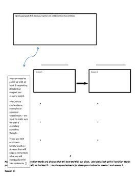 Opinion Writing: Goals, Scales & Flow Map