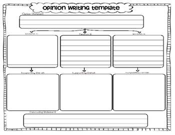 Opinion Writing Graphic Organizer