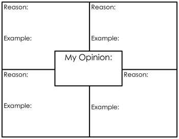 Opinion Writing Graphic Organizer