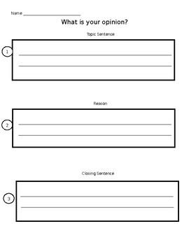 Opinion Writing Graphic Organizer- Basic