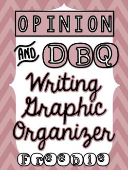 Opinion Writing Graphic Organizer DBQ - FREEBIE