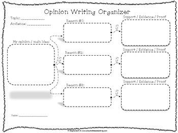 Opinion Writing Graphic Organizer Free