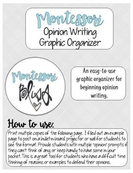 Opinion Writing Graphic Organizer Freebie