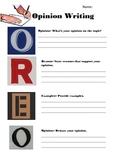 Opinion Writing Graphic Organizer- O.R.E.O.