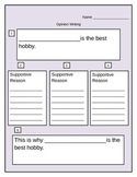 Opinion Writing Graphic Organizer Pack (common core)