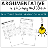 Opinion and Argumentative Writing Graphic Organizer