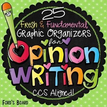 Opinion Writing Graphic Organizers: Common Core Aligned