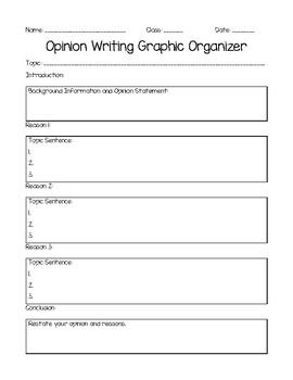 Opinion Writing Graphic Organizers