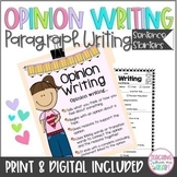 Opinion Writing Transitions Sentence Starters/Stems ANY Topic, Winter, Etc.