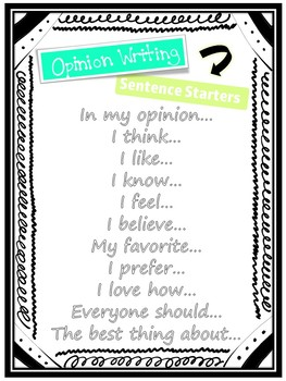 Opinion Writing Graphic Organizers & Posters