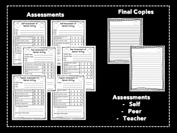 Opinion Writing Graphic Organizers and Assessments: Aligned With Common Core