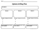 Opinion Writing Graphic Organizers and Paragraph Organizer