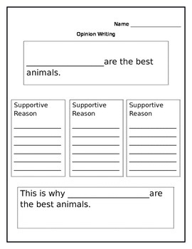Opinion Writing Graphic (common core)