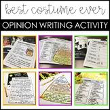 Halloween Costume Opinion Writing Activities