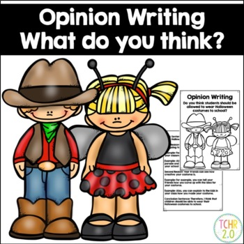 Opinion Writing Prompt Halloween Costumes