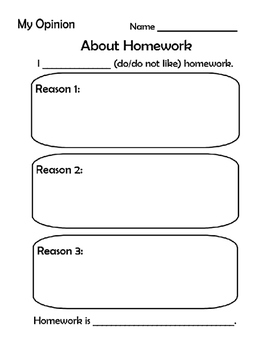 Opinion Writing- Homework