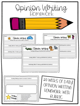 Opinion Writing Homework